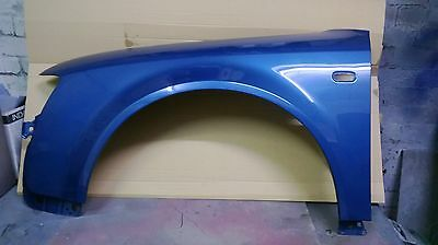 Brand new nearside front wing for Audi A4 B6 2001-05, painted in Denim Blue LZ5W