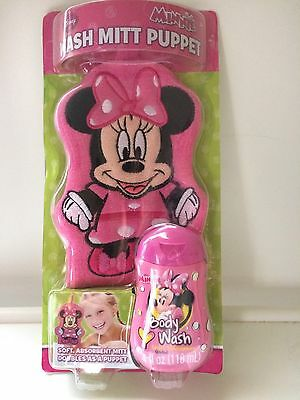 Disney Minnie Mouse Wash Mitt Puppet with Body Wash Included