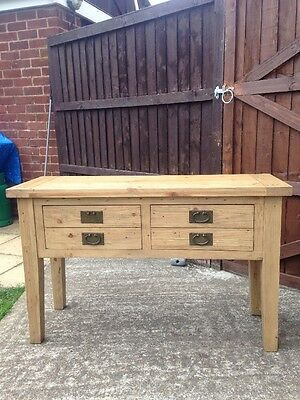 Large Solid Wood Oak Console/hall/side Table