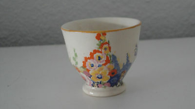 spring stalks flowers orange yellow blue pink purple footed EGG CUP