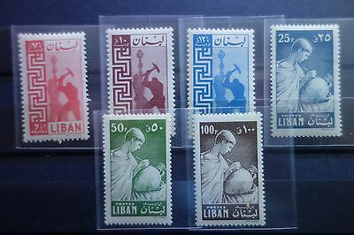 Lebanon 1957 Workers+Potters,sc 319-324, Mnh No Stains