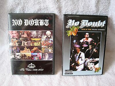 Lot Of 2 - No Doubt Dvd's - Live In The Tragic Kingdom & The Videos 1992-2003!!