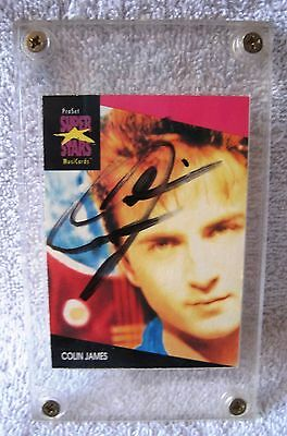 Ultra-Rare - Autographed - Proset Superstars - Colin James - Trading Card