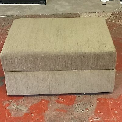 Footstool/Bed  Single Bed In A Box In Mocha Fabric