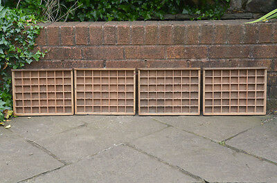 4x Vintage old wooden small printers draw drawer tray 25.7 x 33.3 cm - FREE POST