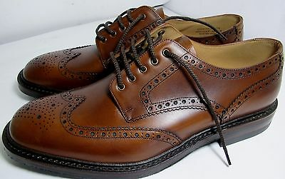 Loake Chester Mahogany Brogue Shoe 11 F - New Slight Seconds RRP £230 (1718)
