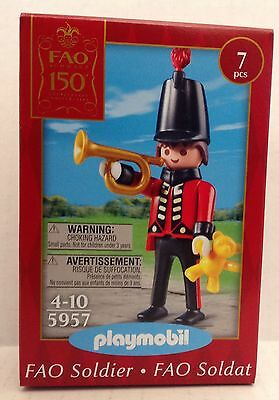 """Playmobil 5957 FAO 150th Anniversary Soldier w/Bugle   -  """"NEW"""""""