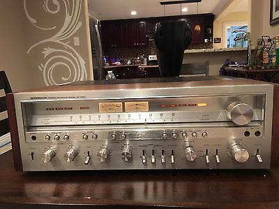 1970's Vintage Pioneer SX-1250 Stereo Receiver Working Wood Cabinet SX
