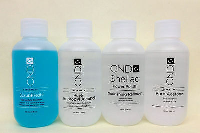 Cnd Essential - Choose ScrubFresh, Pure Alcohol, Nourishing Remover,Acetone 2oz