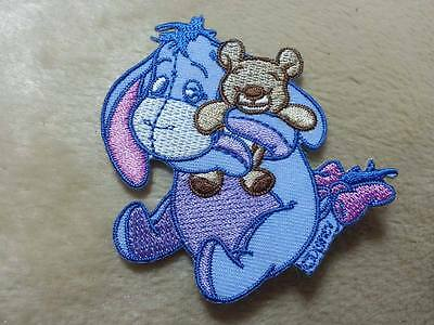 Winnie the Pooh Eeyore Carry Teddy bear Cartoon Embroidered Patch Sew Iron On