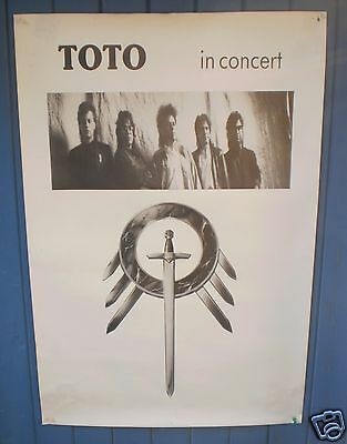 TOTO Affiche Poster promo TOTO The seventh one 1988 TBE 60 x 90 cm
