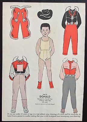 1954, DONALD  Mag. Paper Dolls, Wee Wisdom Mag.,Dorothy Wagstaff Artist