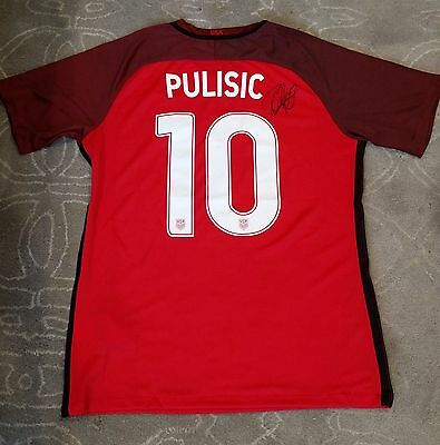 Christian Pulisic Signed 2017 USA Soccer Jersey Proof Gold Cup World Dortmund ++