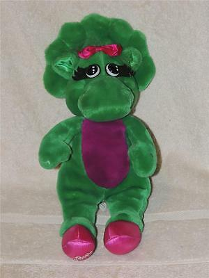 "Vintage 1993 Barney the Purple dinosaur BABY BOP 14"" plush toy doll LYONS GROUP"