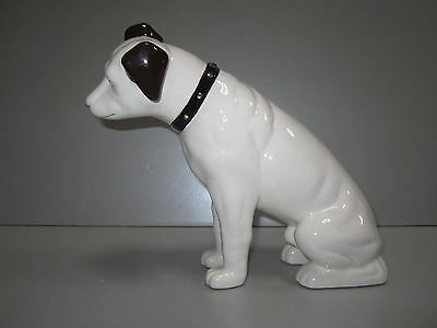 "Nipper Victor Edison dog ceramic 9"" huge coin bank phonograph NOS old stock"