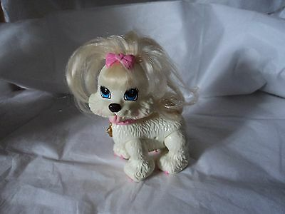 Fisher Price Snap 'N Style GINGER Shih-Tzu Pet Dog w/Pink Bow  Toy Figure