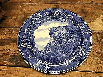 """Vintage Wedgwood New Hampshire Plate Old Man Of The Mountain """"Gorgeous"""""""