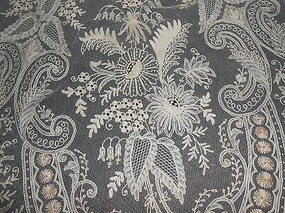 "19Th C. English Tambour Lace Parasol Cover 46"" Round"