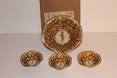 Vintage set of 4 Mr Peanuts Planters serving bowls 1 large and 3 small w/Box • $8.99