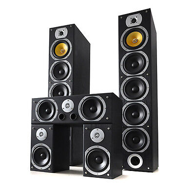 Top Beng V9B Heimkino Surround Sound Lautsprecher System 5 Design Bass Boxen Set