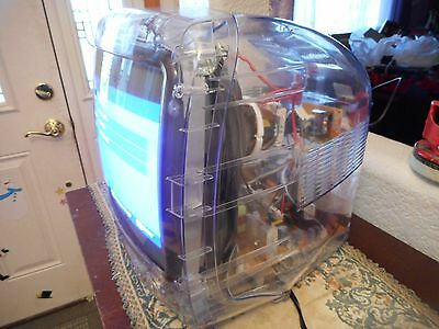 """13"""" Color KTV Clear Plastic Prison Inmate CRT TV Still has Prison Seal on it"""