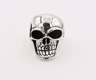 Men's SKULL Warrior Skill Lord Biker Ring Sterling Silver 925