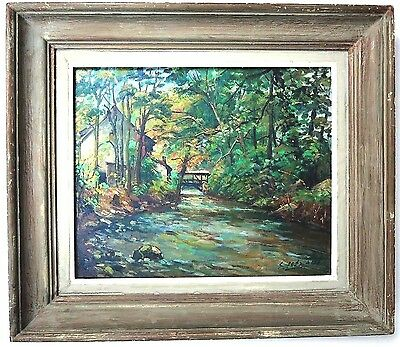 A SUPERB Edouard LeSAOUT(1909-1981)Original Signed French Oil Listed@Montmartre