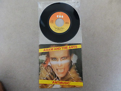 """Adam And The Ants - Antmusic - Italian  7"""" Vinyl - Rare Different Picture Sleeve"""