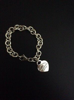 Tiffany & Co Love Heart Bracelet 100% Authentic 925 Solid Sterling Silver