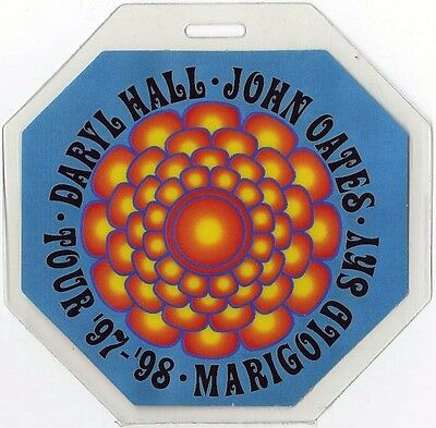 Hall & Oates authentic 1997 Laminate Backstage Pass Marigold Sky Tour Daryl John
