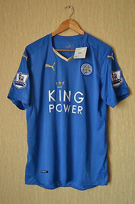 Leicester City England 2015/2016 Champions Home Football Shirt Jersey Puma