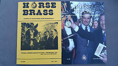 National Horse Brass Society Journals - Complete set No.1 to No.80 (8/'78-1/'16)