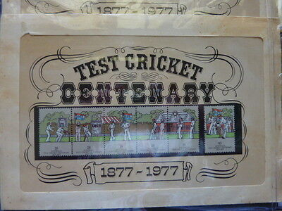 1977 Australia England Test Cricket Centenary stamps pack