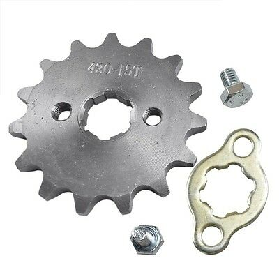 MOTOR BIKE 15 T TOOTH FRONT ENGINE SPROCKET 420 CHAIN 17mm CENTER HOLE SCOOTER