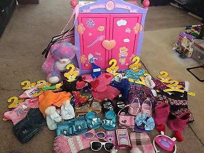 Lovely **build A Bear ** Bundle** Wardrobe/outfits/ Shoes Free Post Look!