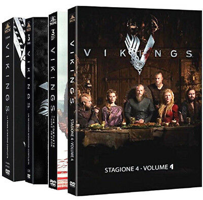VIKINGS - SERIE COMPLETA 01-04 (12 DVD + Portachiave) SERIE TV WARNER HOME VIDEO
