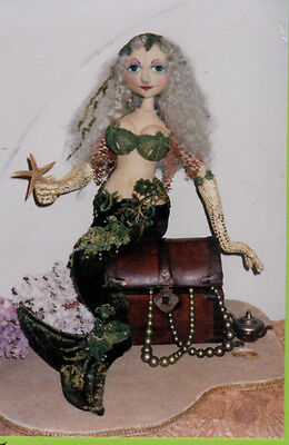 mermaid cloth doll pattern - Leura by Lynne Butcher - vintage 90s unused - 47cms
