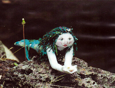 mermaid cloth doll pattern - factory folded Meranda by Irene McConville - rare