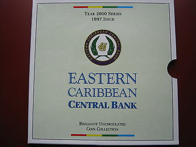 Eastern Caribbean ECCB Year 2000 Series 1997 Issue BUNC Coin set by Royal Mint