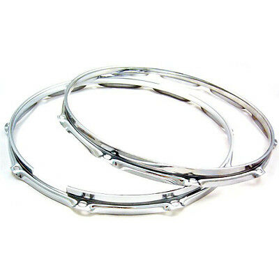 """Triple Flanged 14"""" 2.3mm 10 hole  Drum Hoops, Snare pair (top & bottom)"""
