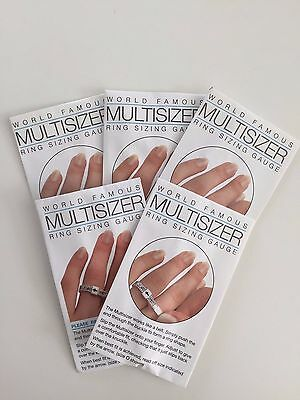 5 x Multisizer Ring Sizer UK Size