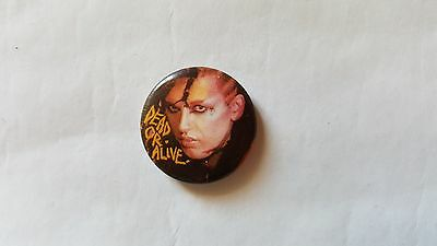 DEAD OR ALIVE Badge UK orig early 80's pin button badge