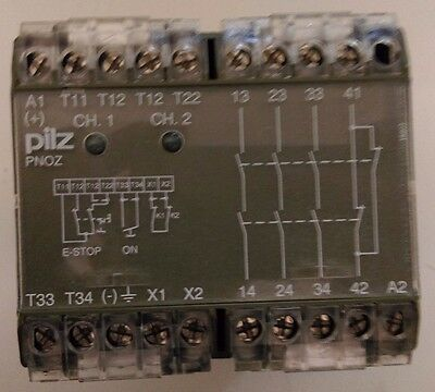 PILZ PNOZ 3S 230V AC I/O SAFETY RELAY MODULE 5-8 AMP 50/60Hz 474650