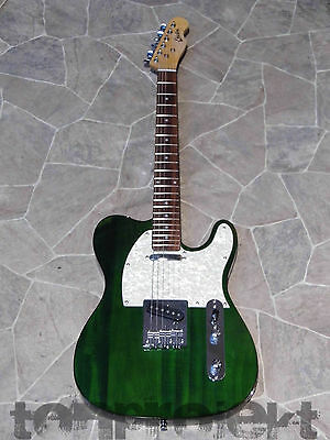 ERICTON Telecaster Tele style Gitarre grün E-Gitarre green seethrought electric