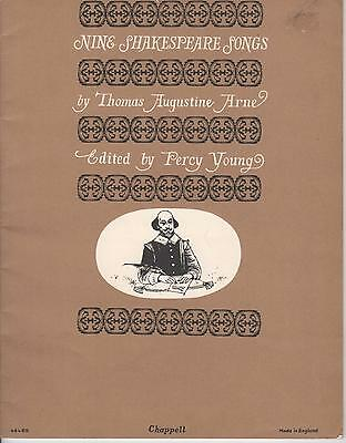RARE - NINE SHAKESPEARE SONGS BOOK of SHEET MUSIC for PIANO, VIOLINS, VOICE etc