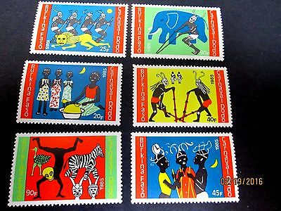 Burkina Faso 1986 African Art Set Complete(6 Values)Very Fine Mint Never Hinged