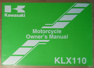 Genuine Kawasaki 2008 Klx110A Owners Manual