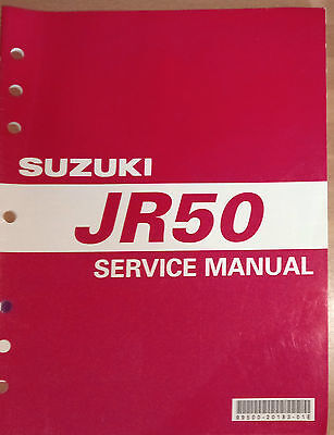 Suzuki owners service manual JR50K1/K2/K3/K4 (02/03/04- MODELS)