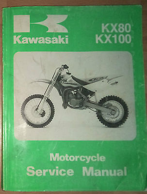 Genuine Kawasaki Service Manual 1998 Kx80 Kx100