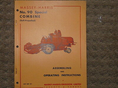 Massey-Harris #26 Special Combine Operating Instructions